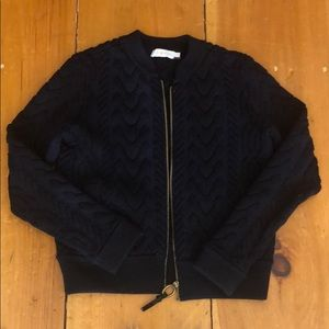 Tory Burch zip up cardigan